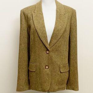 SUNDANCE- Wool Flecked Tweed Blazer. Size Large